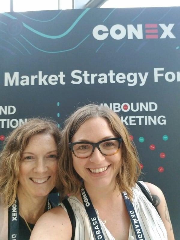 Michelle Mulder and Bri Krantz at Conex